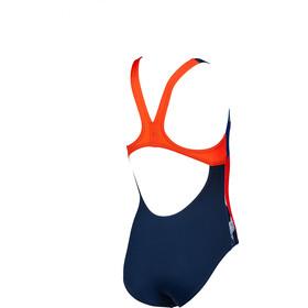 arena Rock Swim Pro Back Traje de baño de una pieza Niñas, navy/nectarine